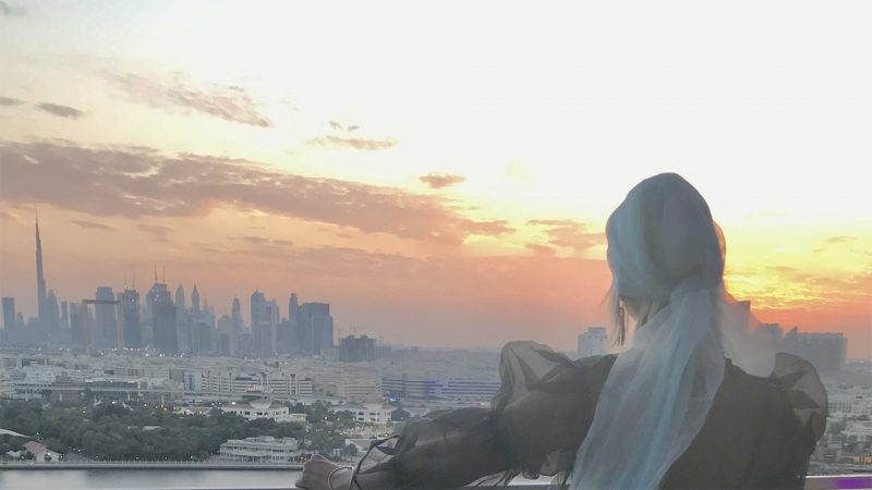 Central Dubai sunset